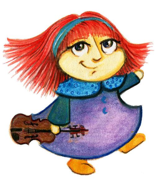 violina punčka